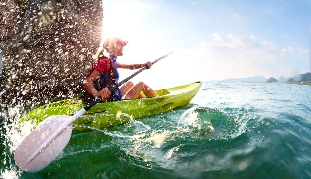 GoXtreme Action Image Canoe