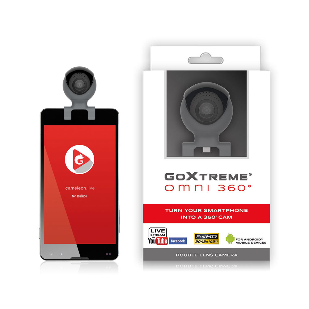 GoXtreme Omni 360° Smartphone and Box