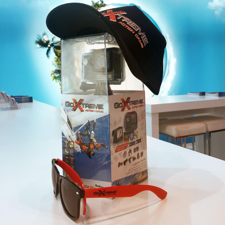 Goxtreme Action Black Hawk & Sunglasses
