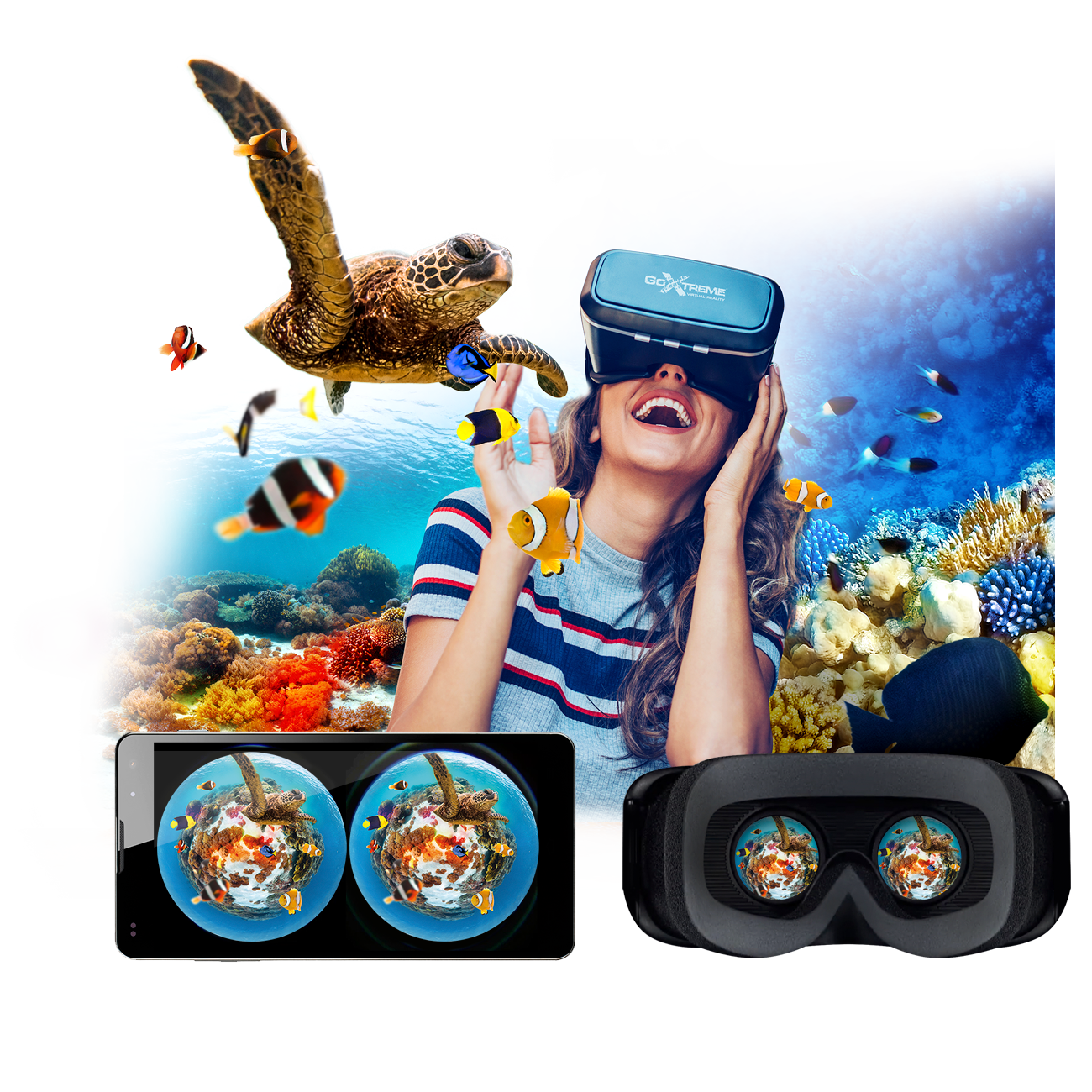 GoXtreme 360° World VR Glasses