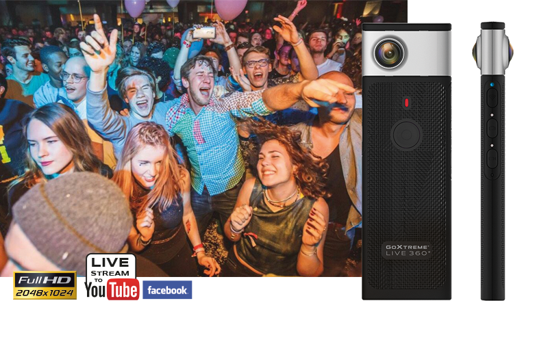 GoXtreme Live 360° Image