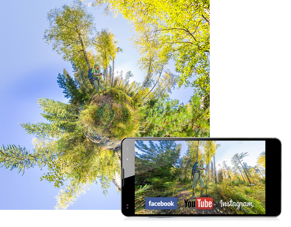 GoXtreme 360° Image with Smartphone