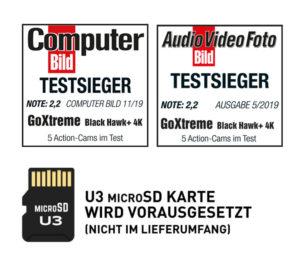 GoXtreme Black Hawk+ 4K Testsieger